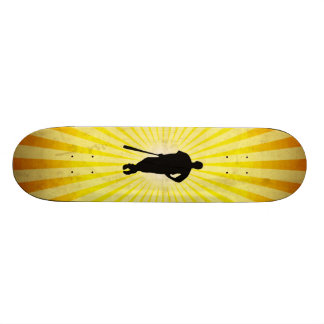 Baseball Silhouette; yellow Skate Boards