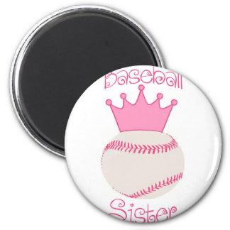 Baseball Sister 6 Cm Round Magnet