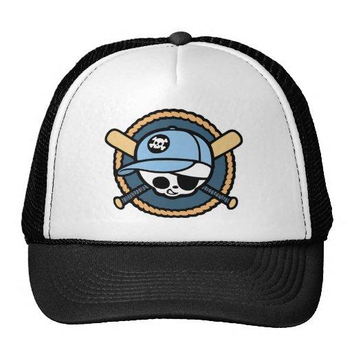 Baseball Skull & Crossbats -boys Trucker Hats