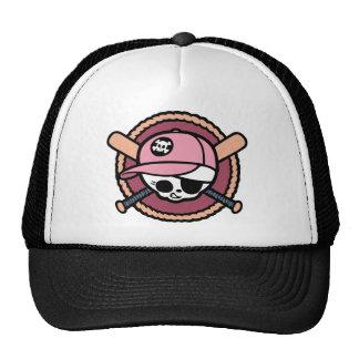 Baseball Skull & Crossbats -girls Cap
