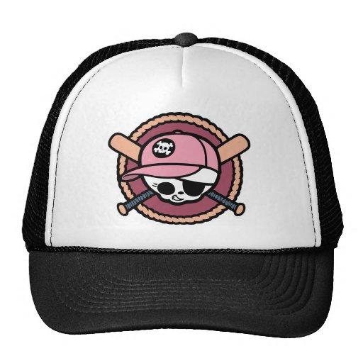 Baseball Skull & Crossbats -girls Hat