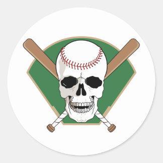 Baseball Skull Stickers