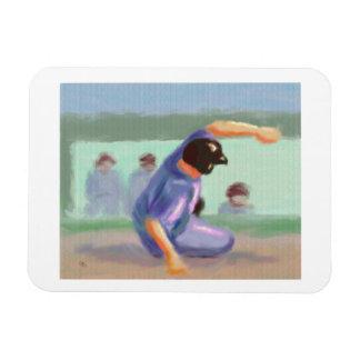Baseball Slide Rectangular Photo Magnet