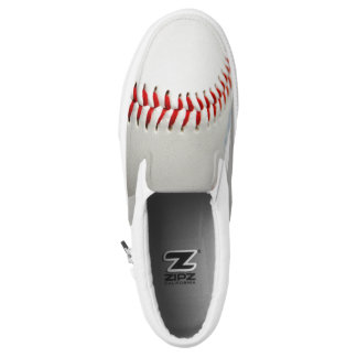 Baseball slip on shoes printed shoes