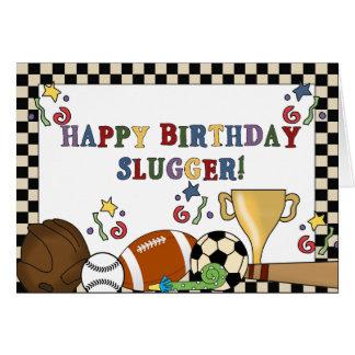Baseball Slugger Birthday Cards
