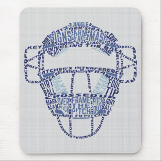 Baseball Softball Catcher's Mask Mousemat