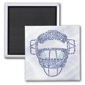 Baseball Softball Catcher's Mask Square Magnet