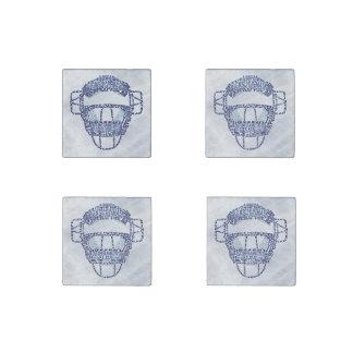 Baseball Softball Catcher's Mask Stone Magnet