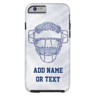 Baseball Softball Catcher's Mask Typography Tough iPhone 6 Case