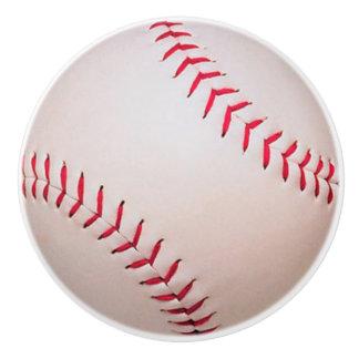 Baseball Softball drawer pull, Sport knobs, kids Ceramic Knob