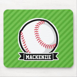 Baseball, Softball; Green Stripes Mousepads