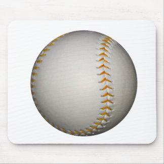 Baseball / Softball w/Orange Stitching Mouse Pad