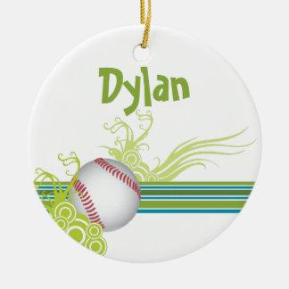 Baseball Sports Ball Game Personalized Name Ceramic Ornament