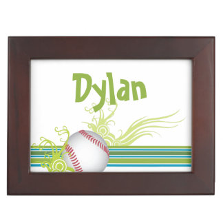 Baseball Sports Ball Game Personalized Name Keepsake Box