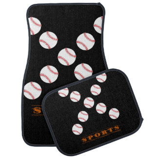 Baseball sports car floor mats