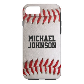 Baseball Sports Texture with Personalized Name iPhone 7 Case