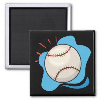Baseball Square Magnet