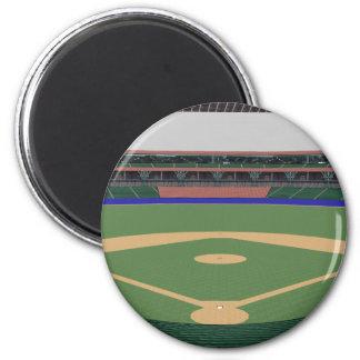 Baseball Stadium: 3D Model: 6 Cm Round Magnet