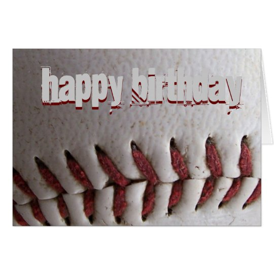 Baseball Stitches Card