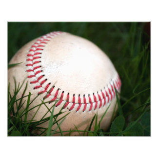 Baseball Stitching Photo Print