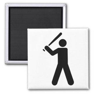 Baseball Symbol Square Magnet