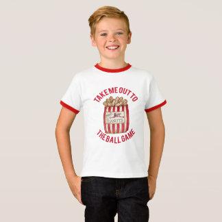 Baseball t-shirt with bag of peanuts