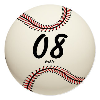 Baseball Table Number 13 Cm X 13 Cm Square Invitation Card