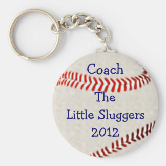 Baseball Team Coach Personalize It Basic Round Button Key Ring