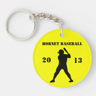 Baseball team keychain