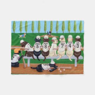 Baseball Team Labradors Fleece Blanket