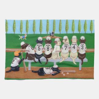 Baseball Team Labradors Tea Towel