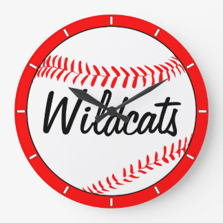 Baseball Team Name and Color Custom Wall Clock