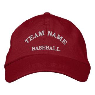 Baseball Team Name Red  Hat