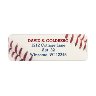 Baseball Texture Personalised Label Return Address Label