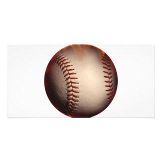 Baseball That Appears On Fire Custom Photo Card