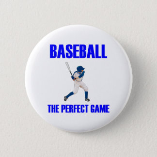 Baseball the Perfect Game Blue Print 6 Cm Round Badge