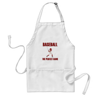 Baseball the Perfect Game Red Print Apron