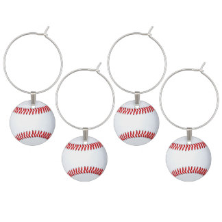 Baseball Theme Adult Party Ideas Wine Charms