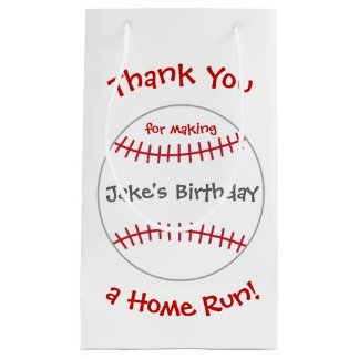 Baseball Theme Bags- Birthday Party Favor Small Gift Bag