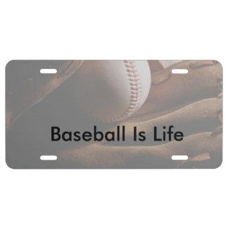 Baseball Theme Baseball Is Life License Plate
