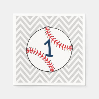 Baseball theme first Birthday Napkins Paper Serviettes