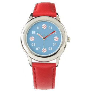 Baseball Theme For Boys Wrist Watch