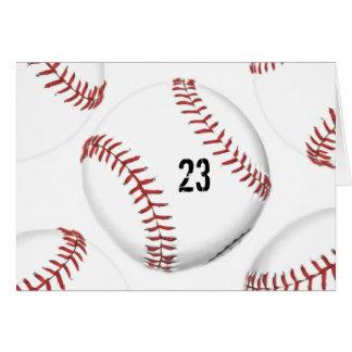Baseball Theme greeting card