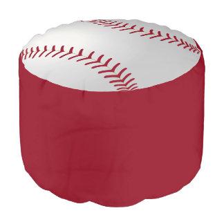 Baseball Theme Round Pouffe