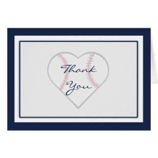 Baseball Theme Thank You cards