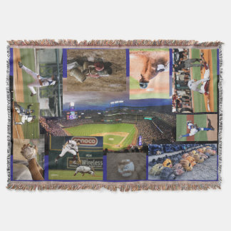 Baseball Theme Throw Blanket - HAMbyWhiteGlove