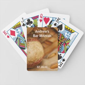 Baseball Themed Bar Mitzvah Bicycle Playing Cards
