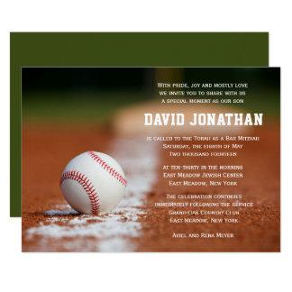 Baseball Themed Bar Mitzvah Invitation