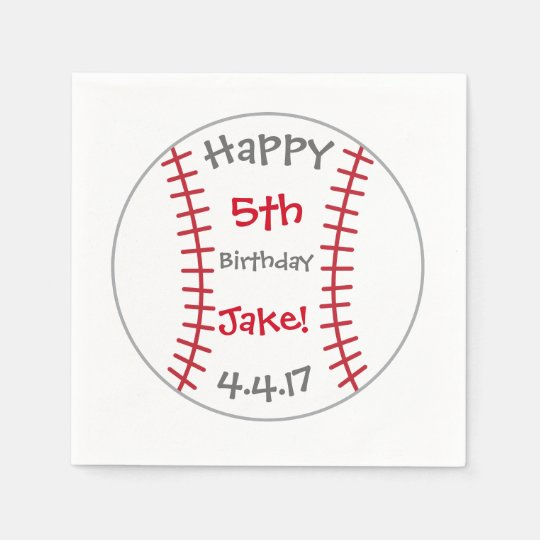 Baseball Themed Napkins- Birthday Goods Paper Napkin