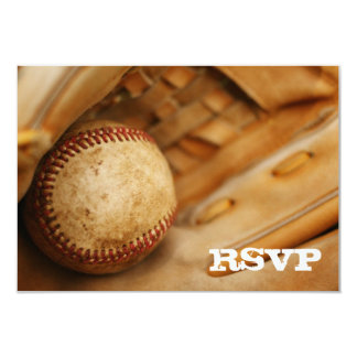 "Baseball Themed RSVP 3.5"" X 5"" Invitation Card"